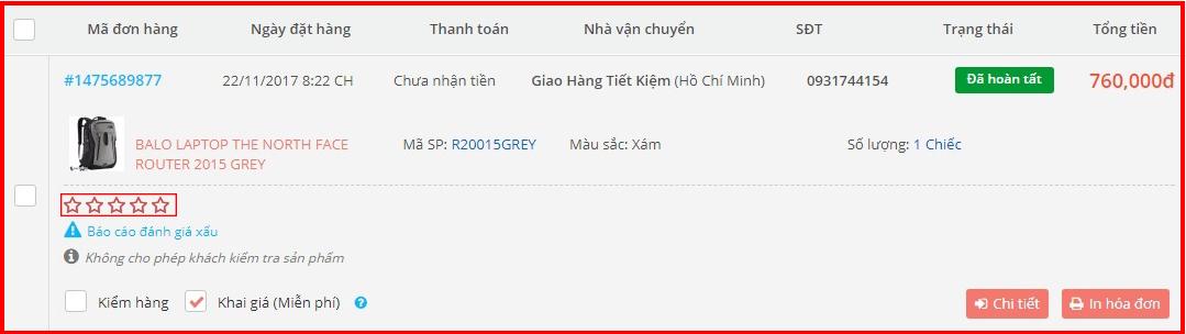 khách hàng đánh giá tốt về balo the north face router 2015