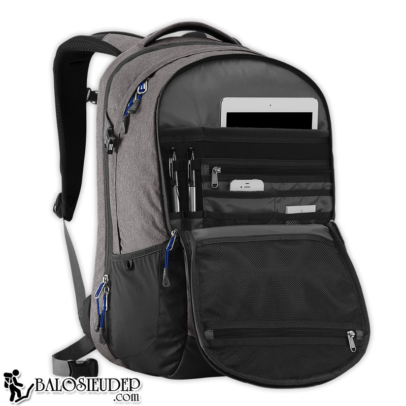 balo laptop the north face surge backpack 2015 grey rộng rãi