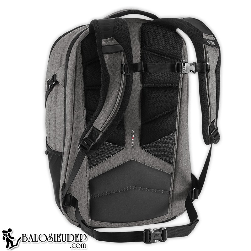 đệm lưng của balo laptop the north face surge backpack 2015 màu ghi cực dày