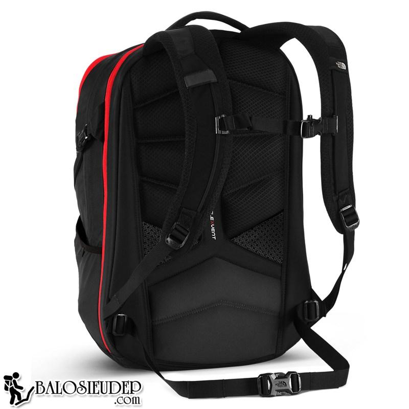 đệm lưng của balo laptop the north face surge backpack 2015 màu đỏ cực dày