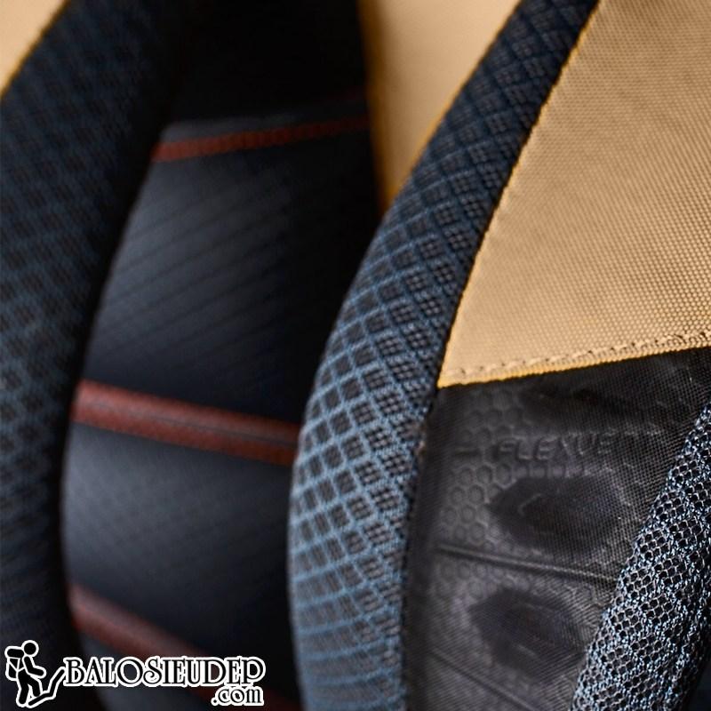 the north face hot shot sử dụng công nghệ flexvent cho quai đeo và đệm lưng