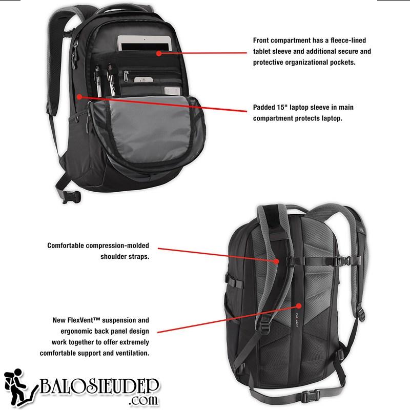 the north face borealis grey backpack cao cấp với thiết kế cực thông minh